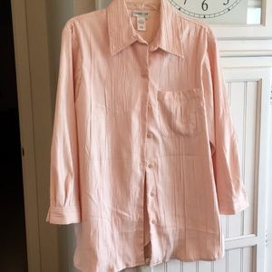 Tops - Coldwater creek button down shirt pale pink